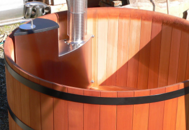 Stainless steel TubSub wood fire heater for Lignum Hot Tubs